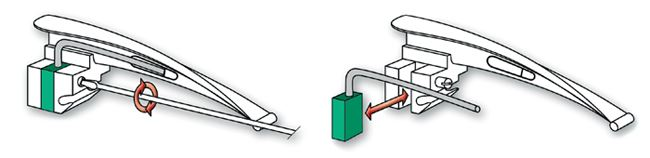 Схема замены световода фиброоптического ларингоскопа