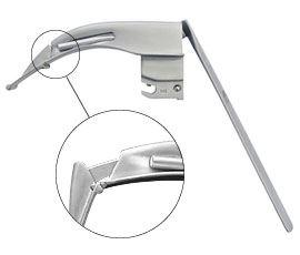 Клинок для сложной интубации Флэплайт Ф.О. (со сменным световодом)