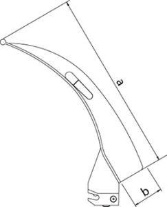 Клинок для сложной интубации Полио Ф.О. (со сменным световодом)