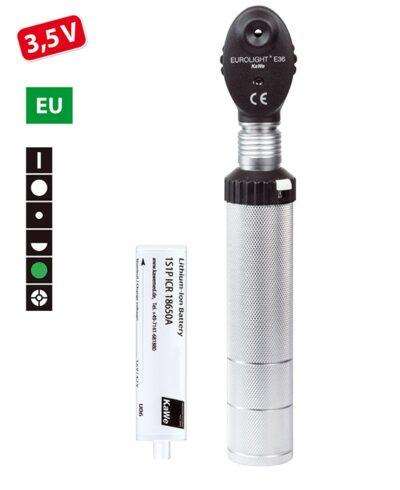 Офтальмоскоп Евролайт KaWe Е36 3,5В (в комплекте с аккумулятором)
