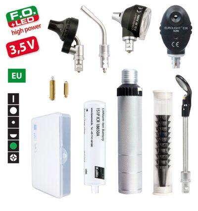 Диагностический набор KaWe Комбилайт FO30 LED / E36 (EС) (офтальмоскоп 6 апертур, трансиллюминатор (диафаноскоп) и отоскоп LED с принадлежностями)